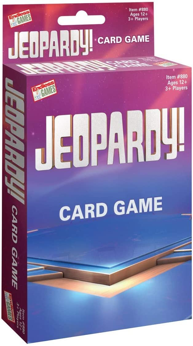 Jeopardy Card Game - Travel Sized Quiz Competition - Fast Paced Party Game