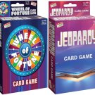 Wheel of Fortune Card Game & Jeopardy Card Game - Travel Sized Party Game (Set of 2)