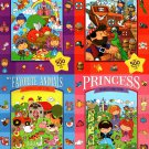 Princess, Pirates, My Favorite Animals, My Favorite Tales - Search and Find Book - (Set of 4 Books)