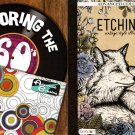 Etchings, Coloring The 60's - Advanced Coloring Books for Adults - (Set of 2 Books)