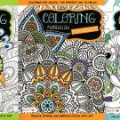 Cats & Dogs, Mandalas, Birds - Coloring Books for Adults - (Set of 3 Books)