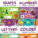Colors, Letters, Numbers, Shapes - Learning Sticker Book - Educational Workbooks - (Set of 4 Books)