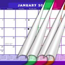 2020-2021 Monthly Magnetic/Desk Calendar - 16 Wall Calendar/Planner - (Multicolored Edition #22-07)