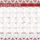 2020-2021 Monthly Magnetic/Desk Calendar - 16 Wall Calendar/Planner - (Damask Edition #23-05)