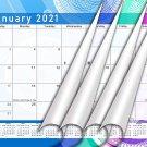 2020-2021 Monthly Magnetic/Desk Calendar - 16 Wall Calendar/Planner - (Edition #07-02)