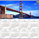 2021 Magnetic Calendar - Today is My Lucky Day - Golden Gate Bridge