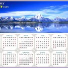 2021 Magnetic Calendar - Today is My Lucky Day - Jackson Lake Wyoming