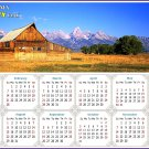 2021 Magnetic Calendar - Today is My Lucky Day - (Grand Tetons and Old barn)