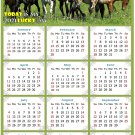 2021 Magnetic Calendar - Calendar Magnets - Today is My Lucky Day - Horses Themed 02 (7 x 10.5)