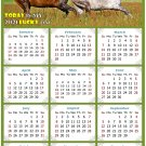 2021 Magnetic Calendar - Calendar Magnets - Today is My Lucky Day - Horses Themed 03 (7 x 10.5)