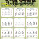 2021 Magnetic Calendar - Calendar Magnets - Today is My Lucky Day - Horses Themed 06 (7 x 10.5)