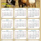 2021 Magnetic Calendar - Calendar Magnets - Today is My Lucky Day - Horses Themed 07 (5.25 x 8)