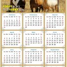 2021 Magnetic Calendar - Calendar Magnets - Today is My Lucky Day - Horses Themed 07 (7 x 10.5)