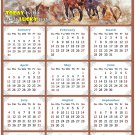 2021 Magnetic Calendar - Calendar Magnets - Today is My Lucky Day - Horses Themed 09 (7 x 10.5)