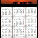 2021 Magnetic Calendar - Calendar Magnets - Today is My Lucky Day - Horses Themed 011 (5.25 x 8)