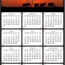 2021 Magnetic Calendar - Calendar Magnets - Today is My Lucky Day - Horses Themed 011 (7 x 10.5)