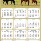2021 Magnetic Calendar - Calendar Magnets - Today is My Lucky Day - Horses Themed 010 (7 x 10.5)