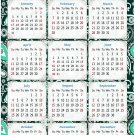 2021 Magnetic Calendar - Calendar Magnets - Today is My Lucky Day - Themed 06 (5.25 x 8)