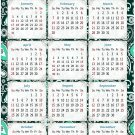 2021 Magnetic Calendar - Calendar Magnets - Today is My Lucky Day - Themed 06 (7 x 10.5)