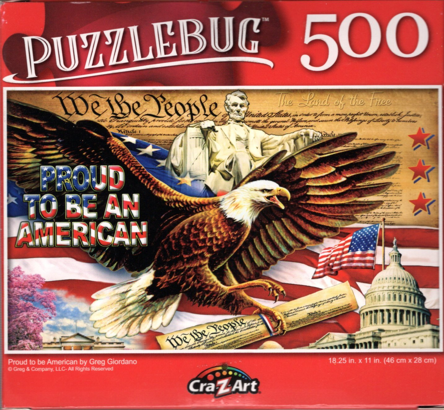 Proud to be American by Greg Giordano - 500 Pieces Jigsaw Puzzle