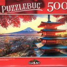 Chureito Pagoda and Mt. Fuji, Fujioshida, Japan - 500 Pieces Jigsaw Puzzle