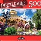 Leavenworth Washington Bavarian Pavilion - 500 Pieces Jigsaw Puzzle