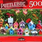 Pretty Garden Birdhouses - 500 Pieces Jigsaw Puzzle