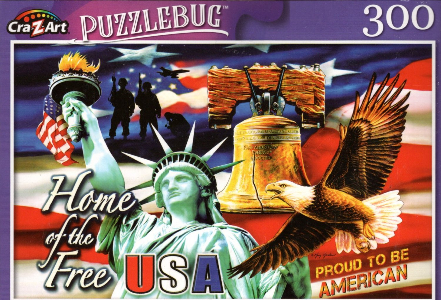 Home of The Free by Greg Giordano - 300 Pieces Jigsaw Puzzle