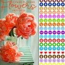 Flowers 2021-2022 2 Year Pocket Planner/Calendar/Organizer - with 100 Reminder Stickers