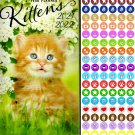 Kittens  2021-2022 2 Year Pocket Planner/Calendar/Organizer - with 100 Reminder Stickers