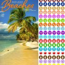Beaches  2021-2022 2 Year Pocket Planner/Calendar/Organizer - with 100 Reminder Stickers