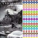 Timeless Landscapes 2021-2022 2 Year Pocket Planner/Calendar/Organizer - with 100 Reminder Stickers
