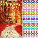 Pathways 2021-2022 2 Year Pocket Planner/Calendar/Organizer - with 100 Reminder Stickers