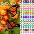 Butterflies 2021-2022 2 Year Pocket Planner/Calendar/Organizer - with 100 Reminder Stickers