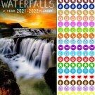 Waterfalls 2021-2022 2 Year Pocket Planner/Calendar/Organizer - with 100 Reminder Stickers