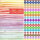 2021-2022 2 Year Pocket Planner/Calendar/Organizer - with 100 Reminder Stickers - v2