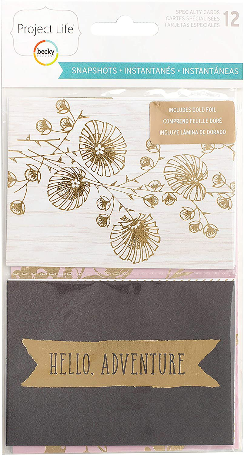Project Life 380014 Specialty Card Pack Core Snapshots Editions-Gold Foil (12 Piece)
