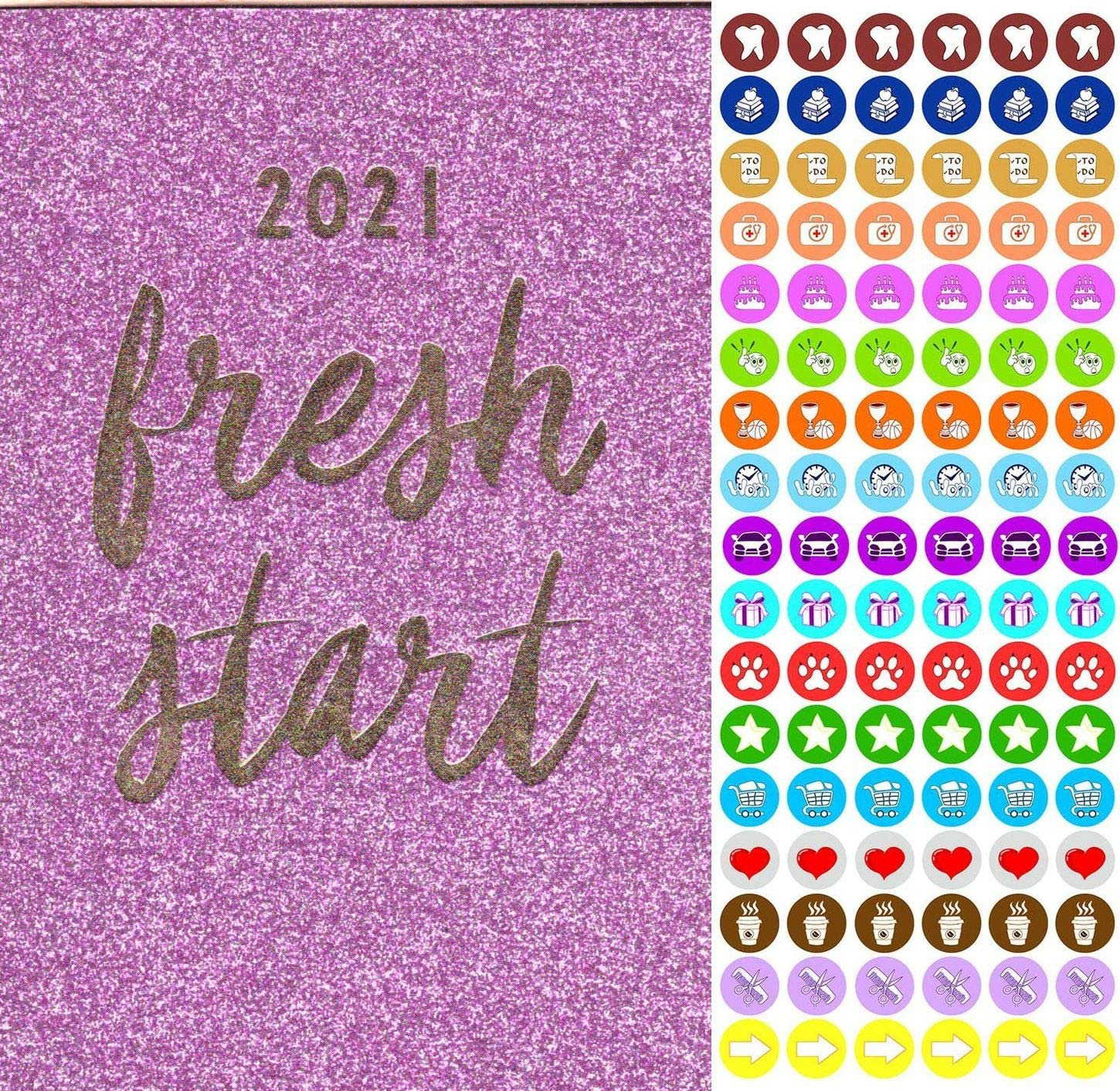 2021 Weekly Pocket Appointment Planner/Calendar - with 100 Reminder Stickers (Edition #4)