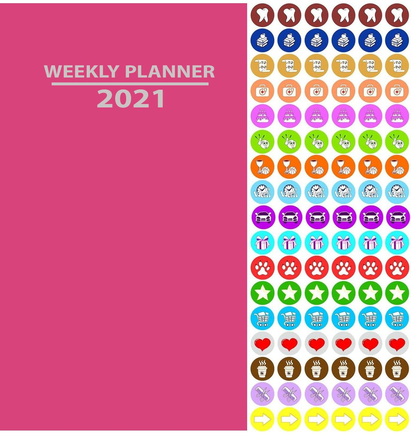 2020 Weekly Pocket Appointment Planner/Calendar/Organizer (Pink) - with 100 Reminder Stickers