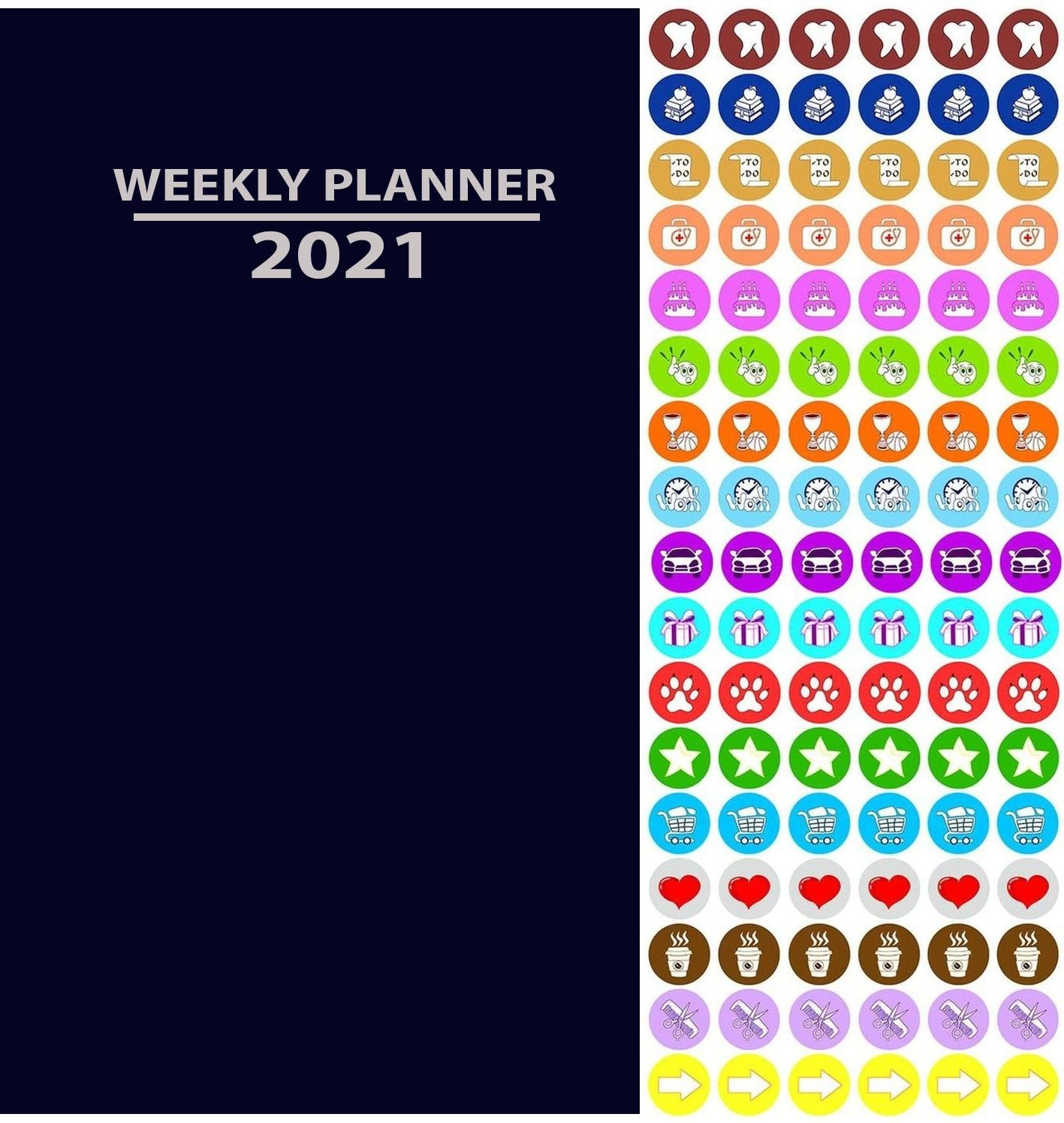 2020 Weekly Pocket Appointment Planner/Calendar/Organizer (Navy Blue) - with 100 Stickersers