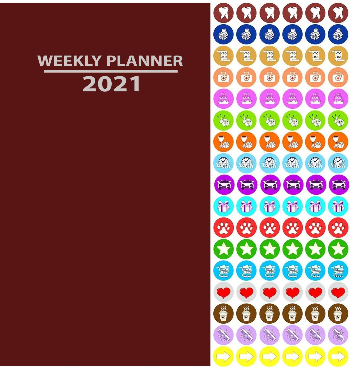 2020 Weekly Pocket Appointment Planner/Calendar/Organizer (Red) - with 100 Reminder Stickers
