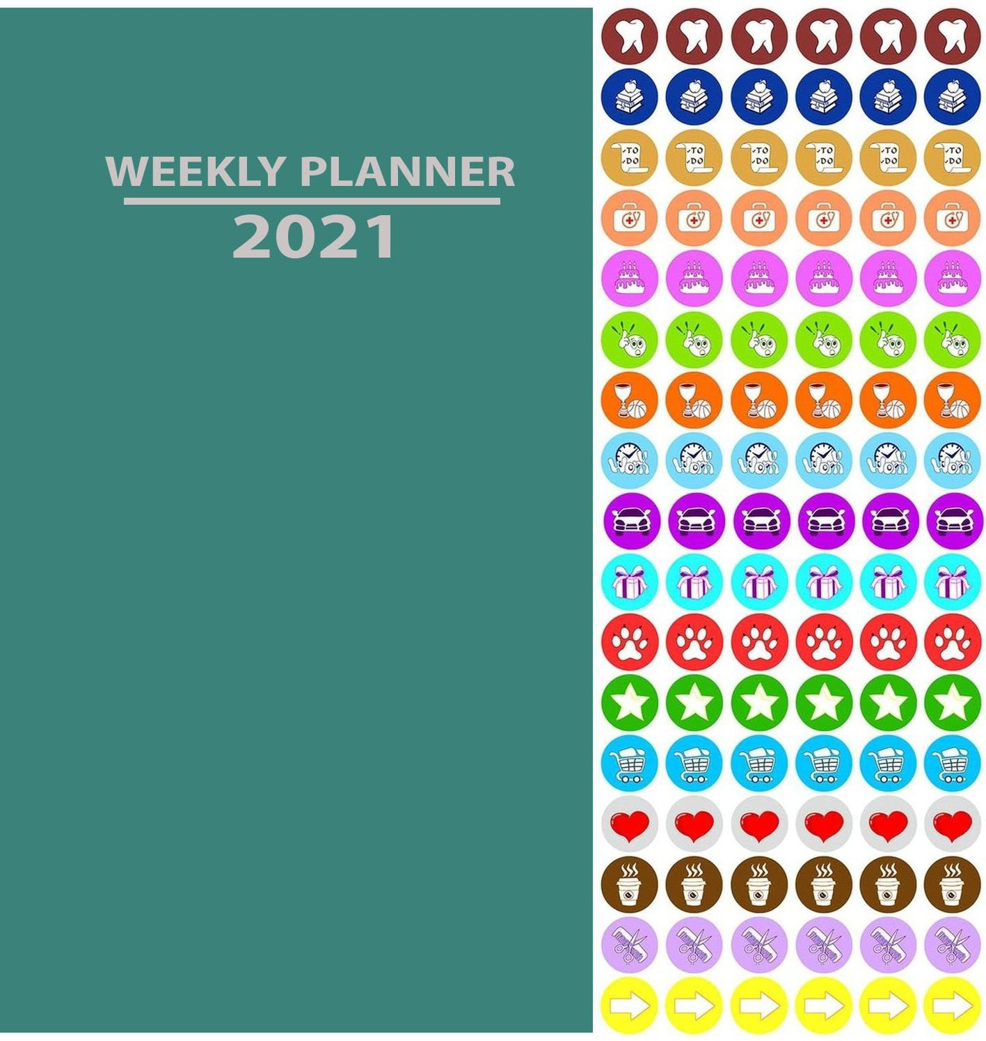 2020 Weekly Pocket Appointment Planner/Calendar/Organizer (Teal) - with 100 Reminder Stickers