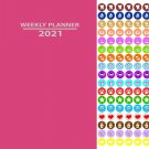 2021 Weekly Appointment Planner/Calendar/Organizer - Color (Pink) - with 100 Reminder Stickers
