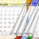 2020-2021 Academic Year 12 Months Student Calendar/Planner for 3-Ring Binder -v003