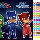 PJ Masks - 12 Month 2021 Wall Calendar - with 100 Reminder Stickers