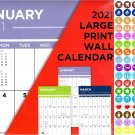 2021 16 Month Wall Calendar - Large Print Calendar - with 100 Reminder Stickers v1