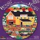 Sweetn Sticky Honey Farm by Mark Frost - 350 Piece Round Jigsaw Puzzle