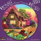 Dream Cottage Retreat - 350 Piece Round Jigsaw Puzzle