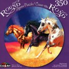 Wild Horses by Lorenzo Tempesta - 350 Piece Round Jigsaw Puzzle