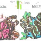 Butterfly DIE CUTS 32 Pieces Elegant Green & Passion Pink Bundle/2